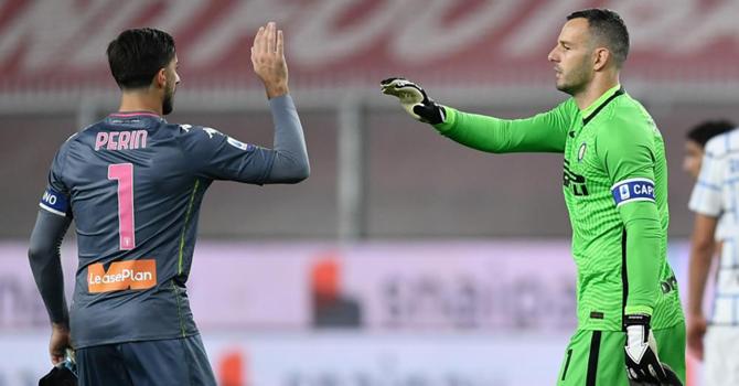 Samir Handanovic Mattia Perin Portieri Genoa Inter